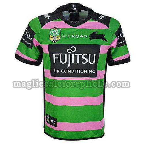 maglie rugby calcio south sydney rabbitohs 18-19 verde