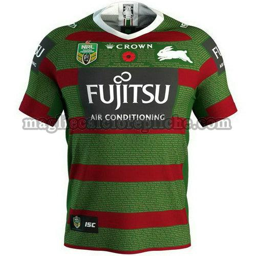maglie rugby calcio south sydney rabbitohs 2018 verde