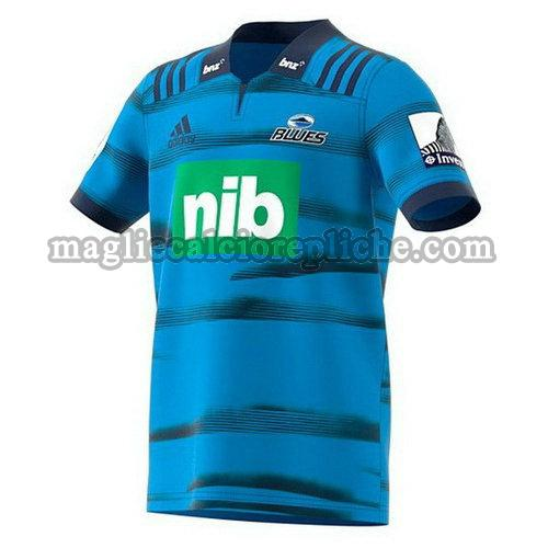 prima maglie rugby calcio blues 2018 blu