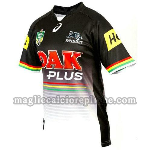 prima maglie rugby calcio penrith panthers 2017 nero