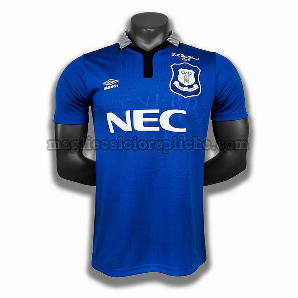prima player maglie calcio everton 1995 blu