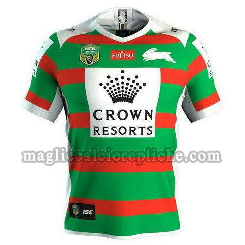 seconda maglie rugby calcio south sydney rabbitohs 2018 verde