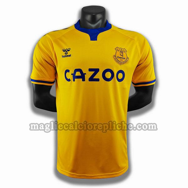 seconda player maglie calcio everton 2020-2021 giallo